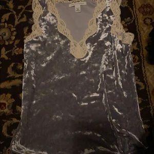 Grey lace cami